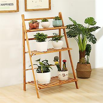Folding 3-lags plant stand