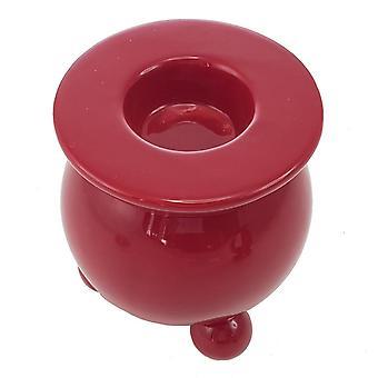 Candlestick Bola de Natal vermelho 2-pack luz de chá 9 cm