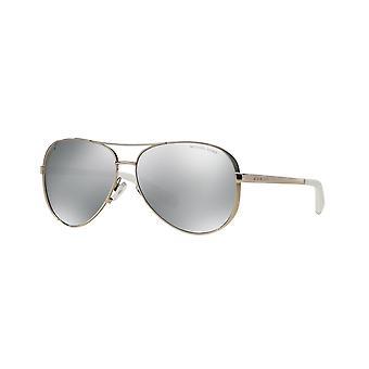 Michael Kors Chelsea MK5004 1001/Z3 Silver/Polarised Silver Mirror Sunglasses