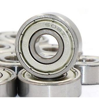 Double Shielded Miniature High-carbon Steel Single Row 608zz Abec-1 Deep Groove Ball Bearing