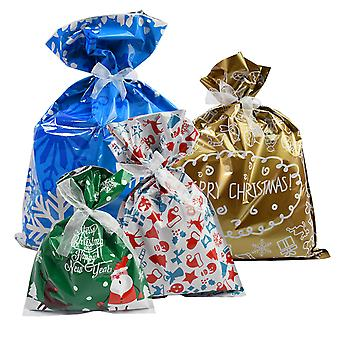 TRIXES Gift Bags Wrapping Paper Gift Bags 4 Christmas Festive Designs Presents Chocolate Sweets