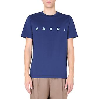 Marni Humu0170p0s2372700b84 Men's Blue Cotton T-shirt
