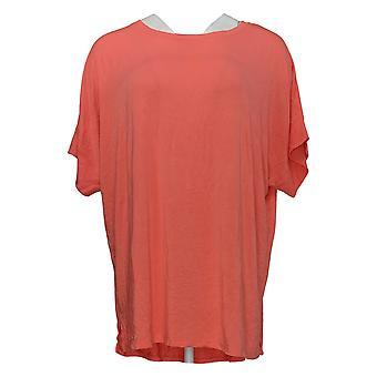 Cuddl Duds vrouwen ' s top softwear stretch korte mouw roze A346853