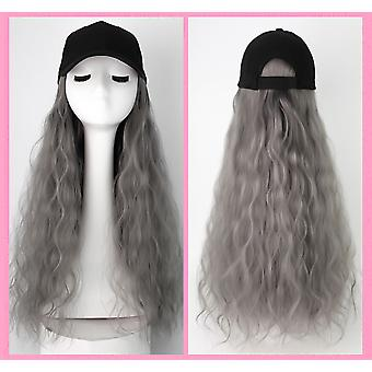 Homemiyn Hat Wig Corn Perm Long Curly Hair