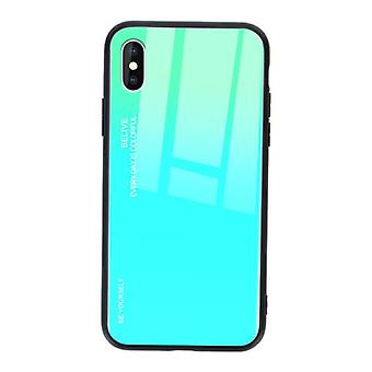 Stuff Certified® iPhone 7 Plus Case Gradient - TPU and 9H Glass - Shockproof Glossy Case Cover Cas TPU Green