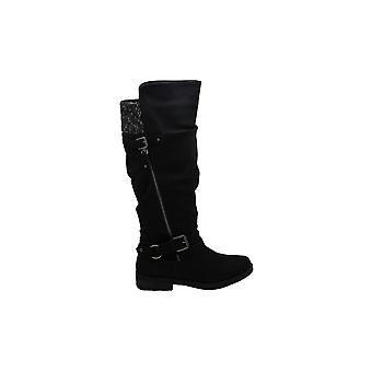 Xoxo Womens Miles Fabric Closed Toe Knee High Riding Boots