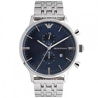 Armani Emporio Armani Gianni Watch Ar1648 Mens Blue Steel Watch