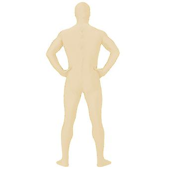 AltSkin Adult/Kids Full Body Stretch Fabric Zentai Suit - Zippered Back One Piece Stretch Suit Costume - Nude