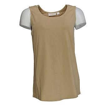 Belle af Kim Gravel Women's Top TripleLuxe Prima Bomuld Tank Guld A374469