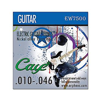 Orphee Caye Electric Guitar Strings, Metal Rock Hexagonal Carbon Steel Electric