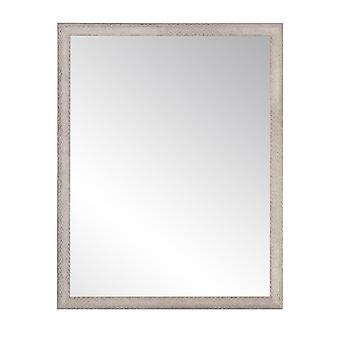 Farmhouse Gray And White Wall Mirror 29.5'' X 35.5''