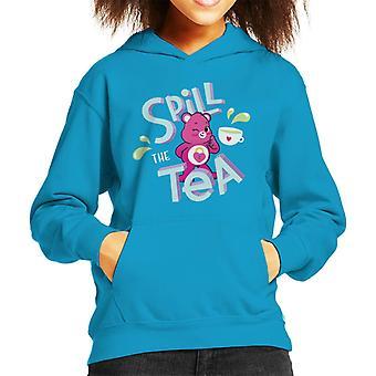 Pflege Bären entsperren die Magie Spill The Tea Kid's Kapuzen Sweatshirt