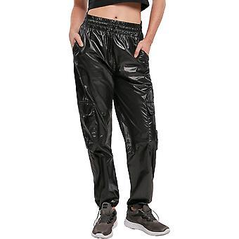 Urban Classics Ladies - Shiny Cargo Track Pants Hose
