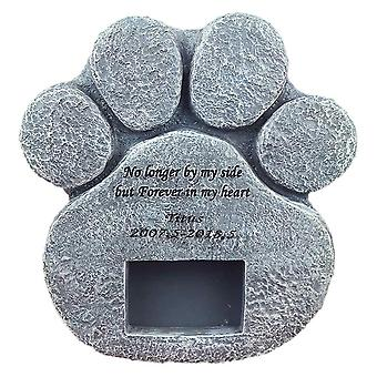Memorial Tombstone For Pet Keepsake - Dog/cat Paw Print Gravestone