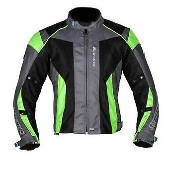 スパダエアプロ2オートバイジャケットシルバーブラックフルーオ