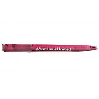 West Ham United FC Clear Ballpoint Stylo