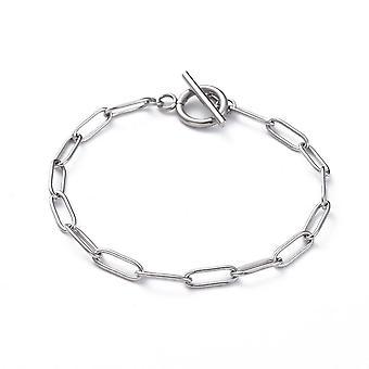 Stainless Steel Paper Clip Bracelet