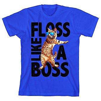 Cool cat ?floss like a boss? youth short-sleeve t-shirt