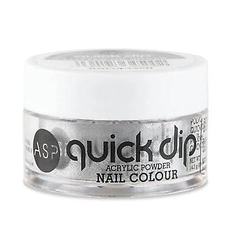 ASP Quick Dip Acrylic Dipping Powder Nail Colour - Flitter On Sliver