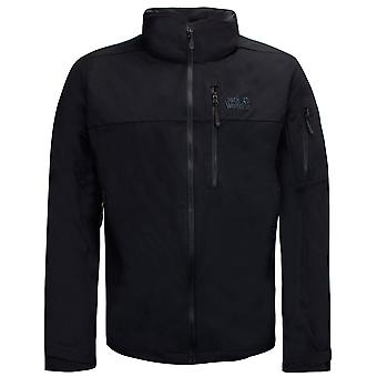 Jack Wolfskin Mens Trekking Pass Softshell Zip Up Jacket Black 1306521 6000