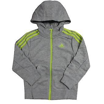 Adidas Performance Ess 3 Listras Completa Zip Hooded Boys Jacket S16475 R11E