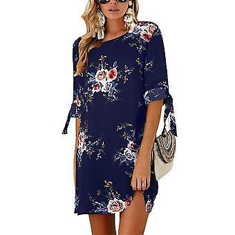 Letní květinový potisk, šifonové plážové šaty