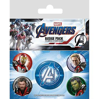 Avengers Endgame Quantum Realm Suits Badge Set (Pack de 5)