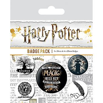 Harry Potter Symbols Badge Set (Pack de 5)