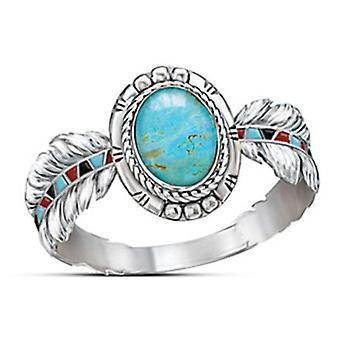 Vrouwen Eagle Feather Vorm Ring
