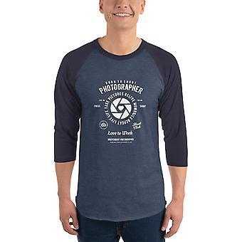 Love to Work - Raglan shirt with 3/4 sleeve, men