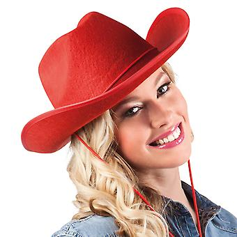 Boland 04075 vuxen cowboyhatt en storlek röd