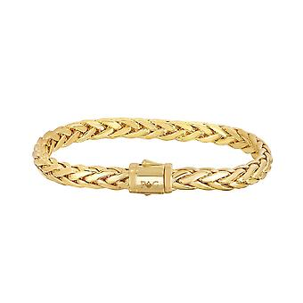 14k Yellow Gold Oval Weaved Mens Bracelet, 8.25""