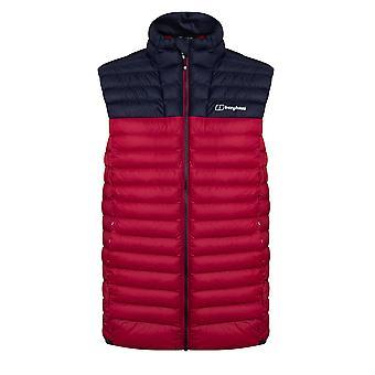 Berghaus Vaskye Mens Sleeveless Gilet Vest Jacket Red/Navy Blue