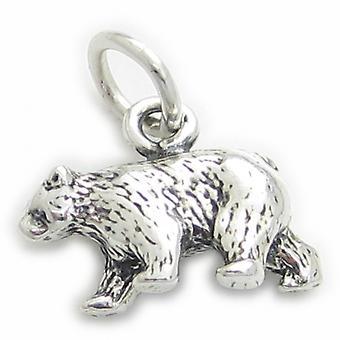 Bear Sterling Silver Charm .925 X 1 Bears Charms - 3510