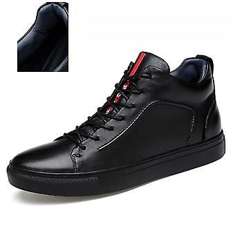 Lässige Lederstiefel, Winter Herren Schuhe