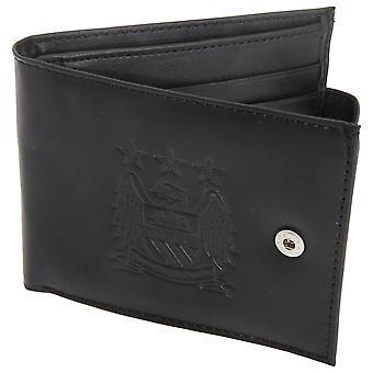 Manchester City FC Herre officielle læder tegnebog med præget fodbold Crest