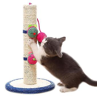 "16"" Tall Cat Scratching Post, Claw Scratcher With Sisal Rope, pet Supplies"