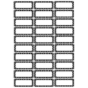 Die-Cut Magnetic Foam Black & White Dots Labels/Nameplates, Pack Of 30