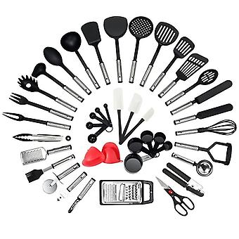 Kitchen Utensil Set 42 Pieces Silicone Cooking Utensils Kitchen Gadgets & Spoons for Nonstick Cookware