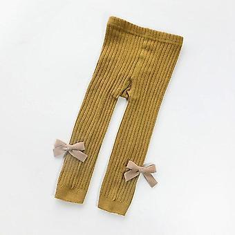 Bebé leggings arco algodón salvaje suave transpirable pantalones de punto