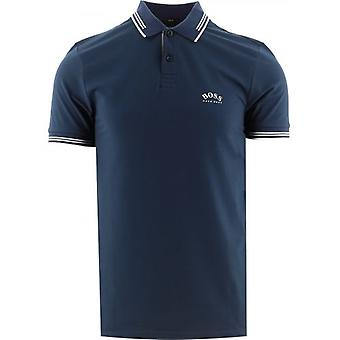 BOSS Blue Paul Curved Polo Shirt