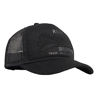 Superdry Vintage Logo Trucker Cap - Black