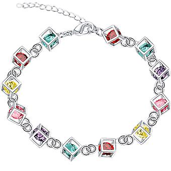 Colorful Magic Cube Bracelet With Diamond Women Girl Gift