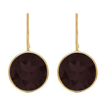 Gemshine Ohrringe schwarze Onyx Edelsteine in 925 Silber, vergoldet, rose