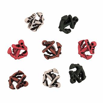 LAST FEW - Pack of 8 Novelty Anchor Buttons For Sewing and Haberdashery