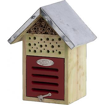 insect hotel 24.1 cm wood/zinc natural