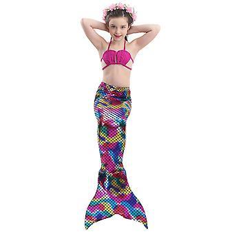 Swimsuit mermaid swimwear children's  mermaid costume cos clothing european   bikini girl