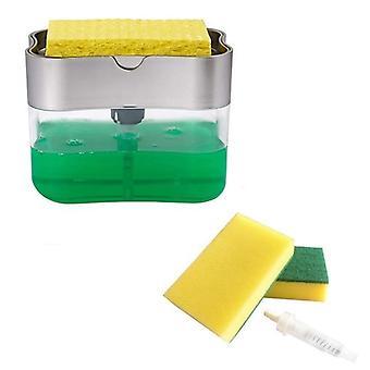 Récipient liquide de distributeur de pompe de savon avec l'éponge