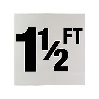 "Inlays C610015 6"" x 6"" 1 1/2 FT Printed Smooth Ceramic Tile"