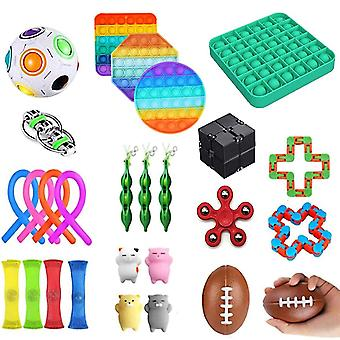 1 set Pack Fidget Toys Sensory Toy Set Antistress Relief Fidget Toys